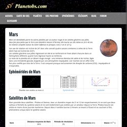 Mars - Description, Observation, Position