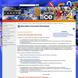 Description d'un poste informatique