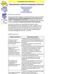Description recherche