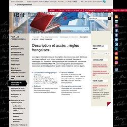 Description et accès : règles françaises