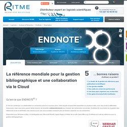 EndNote > Description - Ritme : logiciels scientifiques et formations