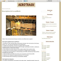 Description de la soufflerie - Aerotrash