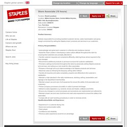 Staples global careers