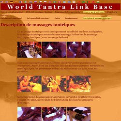 World Tantra Link Base > Description de massages tantriques