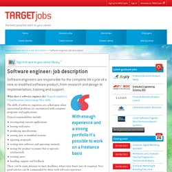 Software engineer: job description