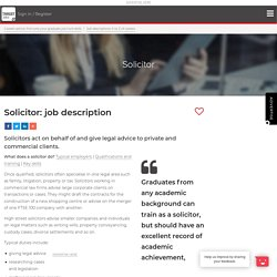 Solicitor: job description