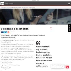 Solicitor: job description
