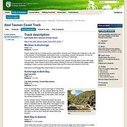 Track description Abel Tasman Coast Track; Golden Bay area Great Walk
