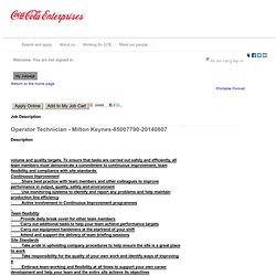 Job Description - Operator Technician - Milton Keynes (85007790-20140807)