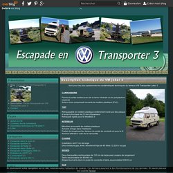 Description technique du VW joker 3 - Escapade en VW Transporter 3