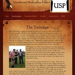 Technique Description - Unrehearsed Shakespeare Project