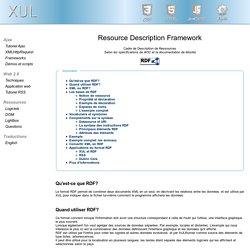 RDF, description, comment l'utiliser notamment avec XUL