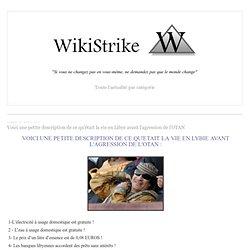 Voici une petite description de ce qu'était la vie en Libye avant l'agression de l'OTAN - wikistrike.over-blog.com
