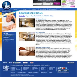 Hotel Room Descriptions for Isle Hotel & Casino Black Hawk in Colorado