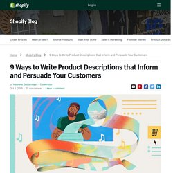 9 Examples of How to Write Product Descriptions that Sell - Ecommerce Copywriting