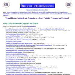 Job Descriptions and Evaluation of School Librarians