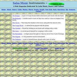 Descriptions of Salsa Music Instruments ~ www.justsalsa.com