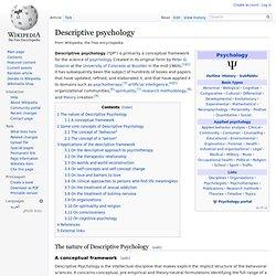 Descriptive psychology