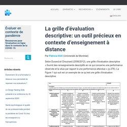 La grille d'évaluation descriptive: un outil précieux en contexte d'enseignement à distance – GRIÉMÉtic