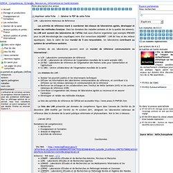 CERISA - Fiche descriptive : LNR - Laboratoires Nationaux de Référence