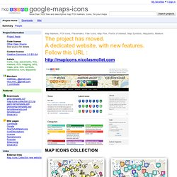 maps-icons - More than 1000 free and descriptive map POI markers, icons, for your maps