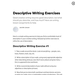 creative writing exercises adjectives creative writing exercises adjectives