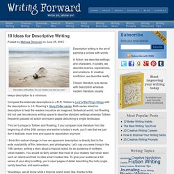 10 Ideas for Descriptive Writing