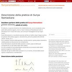 Descrizione della pratica « « Suryanamaskara Suryanamaskara