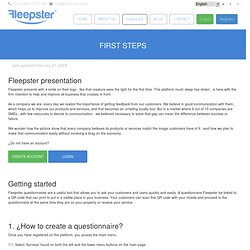 descrubre as Fleepster application works