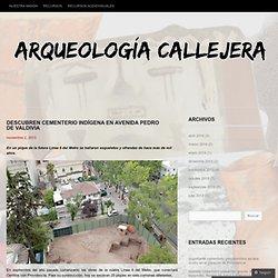 Descubren cementerio indígena en Avenida Pedro de Valdivia