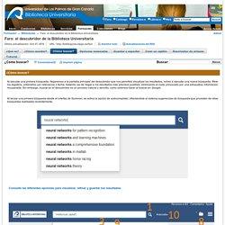 ¿Cómo buscar? - Faro: el descubridor de la Biblioteca Universitaria - BiblioGuías at Universidad de Las Palmas de Gran Canaria
