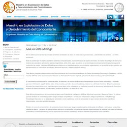 Maestría en Explotación de Datos y Descubrimiento del Conocimiento