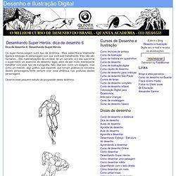 Desenhando Super Heróis: dica de desenho 6