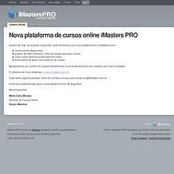 Curso Desenvolvendo layouts com Webstandards - iMasters PRO