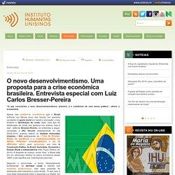 O novo desenvolvimentismo. Uma proposta para a crise econômica brasileira. Entrevista especial com Luiz Carlos Bresser-Pereira