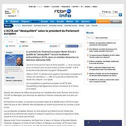 """L'ACTA est """"déséquilibré"""" selon le président du Parlement européen"""