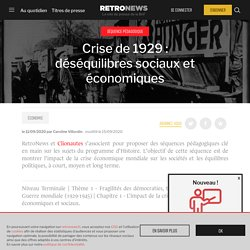 Crise de 1929: déséquilibres sociaux et économiques