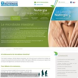 Rôles et déséquilibres de la flore intestinale ou microbiote - Laboratoire Nutergia