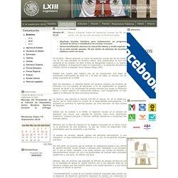 0125 - México presenta índice de deserción escolar de 50 por ciento, uno de los más elevados en América Latina / 02 / Octubre / 2015 / Boletines / Comunicación / Inicio - Camara de Diputados