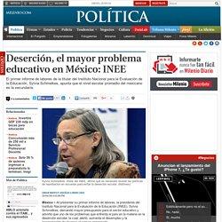 Deserción, el mayor problema educativo en México: INEE