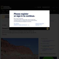 Desert Blocked Spread of Early Dinosaurs
