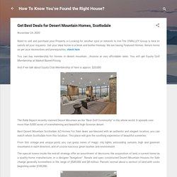 Get Best Deals for Desert Mountain Homes, Scottsdale