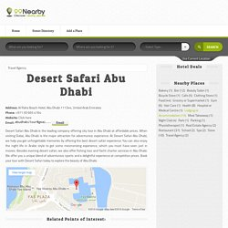 Desert Safari Abu Dhabi at Al Raha Beach Hotel, Abu Dhabi 111344, United Arab Emirates