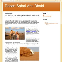 Desert Safari Abu Dhabi: Tips to find the best company for desert safari in Abu Dhabi