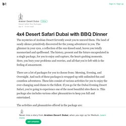 4x4 Desert Safari Dubai with BBQ Dinner – Arabian Desert Dubai – Medium