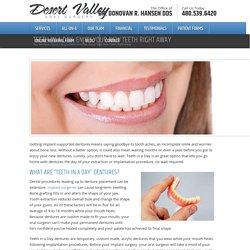 Teeth in a Day: Enjoy Your New Teeth Right Away - Desert Valley Oral SurgeryDesert Valley Oral Surgery