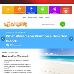 What Would You Want on a Deserted Island?