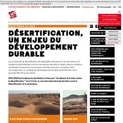 Désertification, un enjeu du développement durable - Dossiers en ligne