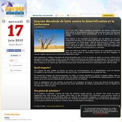 Journée Mondiale de lutte contre la désertification et la sécheresse, le 17 juin
