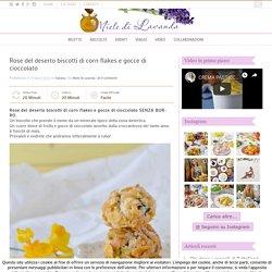 Rose del deserto biscotti di corn flakes e gocce di cioccolato